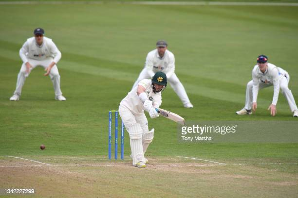 Ben Duckett of Nottinghamshire bats during the LV= Insurance County Championship match between Nottinghamshire and Yorkshire at Trent Bridge on...
