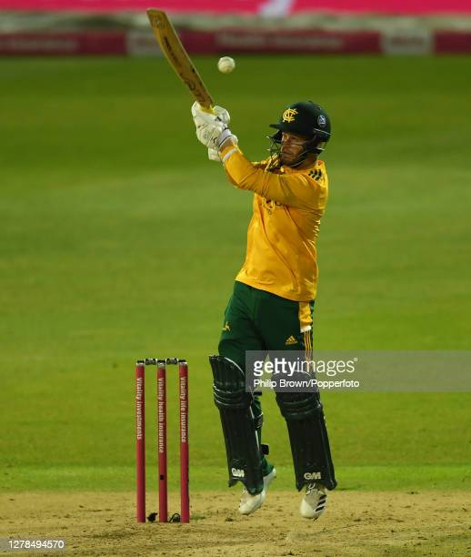 Ben Duckett of Notts bats during the Vitality T20 Blast Final between Surrey and Notts Outlaws at Edgbaston on October 04 2020 in Birmingham England