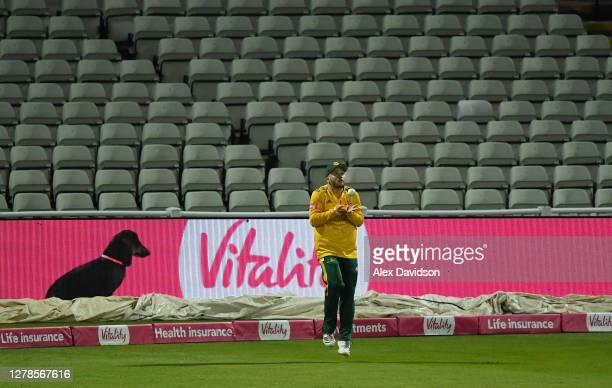 Ben Duckett of Notts Outlaws takes the catch of Ben Foakes of Surrey during the Vitality Blast 20 Final between Surrey and Notts Outlaws at Edgbaston...