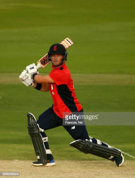 Ben Duckett of The North bats during Game Three of the ECB North versus South Series at Zayed Stadium on March 21 2017 in Abu Dhabi United Arab...