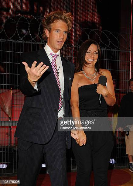 Ben Duncan and Davina McCall as he becomes the 6th housemate evicted from the 11th and final Big Brother House on July 30 2010 in Borehamwood England