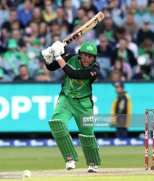 Ben Dunk of the Melbourne Stars batting at Melbourne Cricket Ground on January 09 2019 in Melbourne Australia