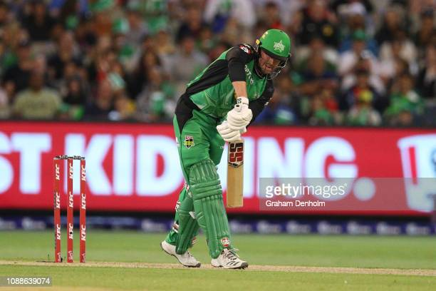 Ben Dunk of the Stars bats during the Big Bash League match between the Melbourne Stars and the Melbourne Renegades at Melbourne Cricket Ground on...
