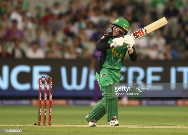 Ben Dunk of the Stars bats during the Big Bash League match between the Melbourne Stars and the Hobart Hurricanes at Melbourne Cricket Ground on...