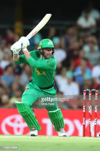 Ben Dunk of the Stars bats during the Big Bash League Match between the Brisbane Heat and the Melbourne Stars at Metricon Stadium on December 20 2019...