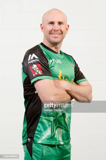 Ben Dunk poses during a Melbourne Stars BBL headshots session at the Melbourne Cricket Ground on November 7 2018 in Melbourne Australia