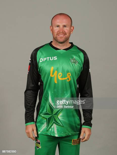 Ben Dunk poses during a Melbourne Stars BBL headshots session on December 7 2017 in Melbourne Australia
