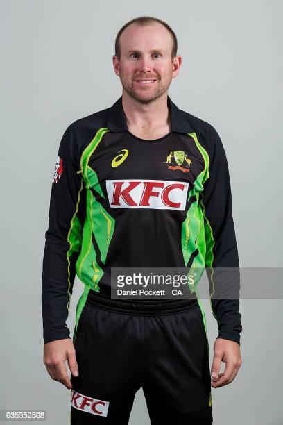 Ben Dunk poses during the Australian Mens Twenty20 Headshots Session on February 14 2017 in Melbourne Australia