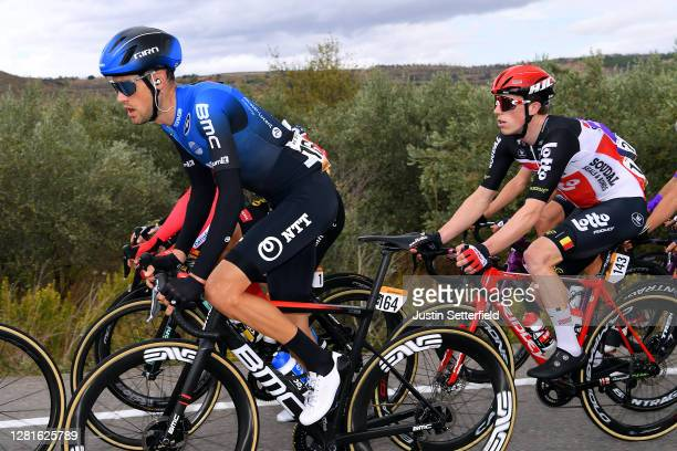 Ben Dyball of Australia and NTT Pro Cycling Team / Stan Dewulf of Belgium and Team Lotto Soudal / during the 75th Tour of Spain 2020 Stage 3 a 1661km...