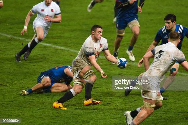 Ben Earl of England during the RBS Six Nations match between France and England at Stade de la Mediterranee on March 9 2018 in Beziers France