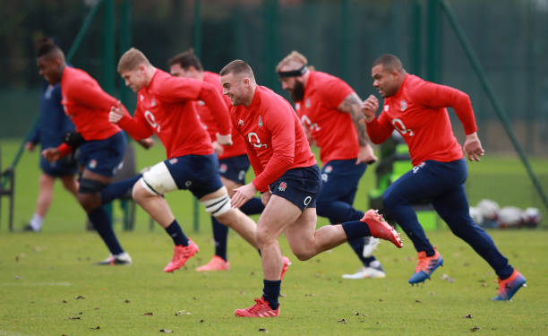 GBR: England Training Session