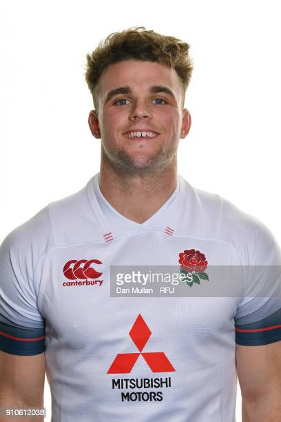 Ben Earl of England poses for a portrait during the England U20 Squad Photo call at Bisham Abbey on January 10 2018 in Marlow England