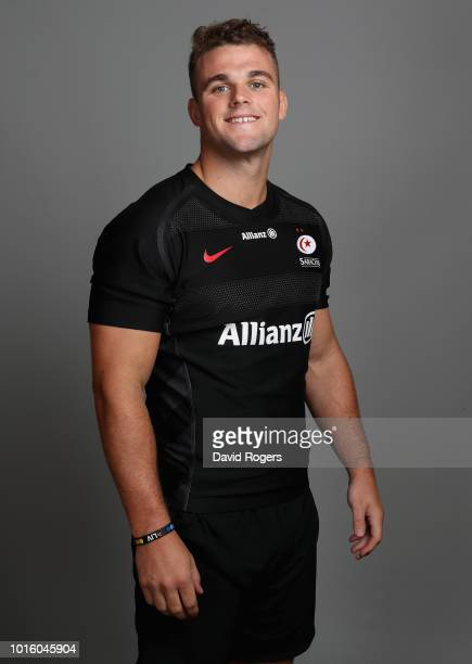 Ben Earl of Saracens poses for a portrait during the Saracens squad photo call for the 201819 Gallagher Premiership Rugby season on August 13 2018 in...