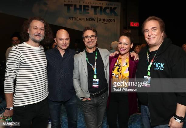 Ben Edlund Michael Cerveris Barry Josephson Yara Martinez and David Fury attend Amazon Prime Video's The Tick New York Comic Con 2017 Panel at The...