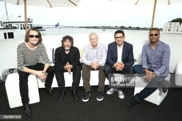 Ben Edlund Neil Gaiman Carlton Cuse Graham Roland and Naren Shankar attend the #IMDboat At San Diego ComicCon 2018 Day Two at The IMDb Yacht on July...