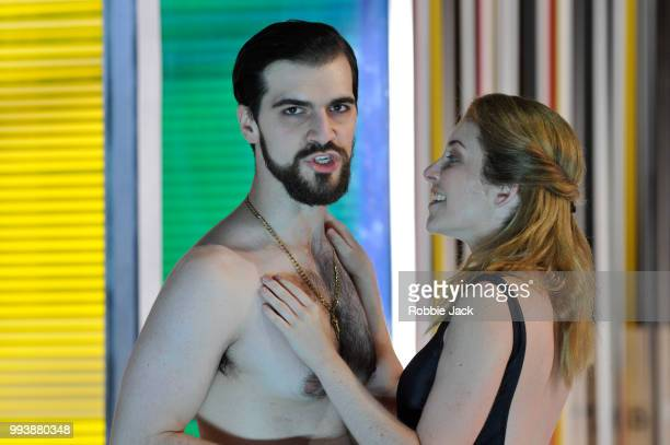 Ben Edquist as Remo and Lauren Zolezzi as Nuria in David Sawer's The Skating Rink directed by Stewart Laing and conducted by Garry Walker at...