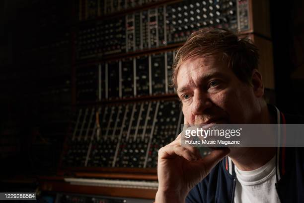 Ben Edwards of British electronica group Wrangler, photographed at Memetune Studios in Cornwall, on March 10, 2020.