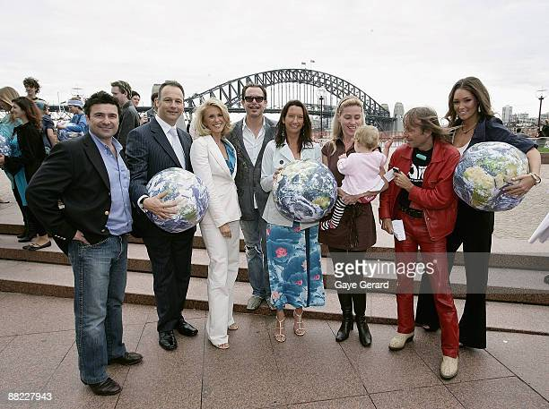 Ben Elias Tracey Spicer Kirk Penguilly Layne Beachley Brian Scarsbrick Susie Maroney French 'Spiderman' Alain Robert and Erin McNaught pose at the...