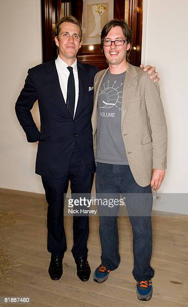 Ben Elliot and Harry Lopes attends The Quintessentially Summer Arts Party at Phillips de Pury Company on July 9 2008 in London England