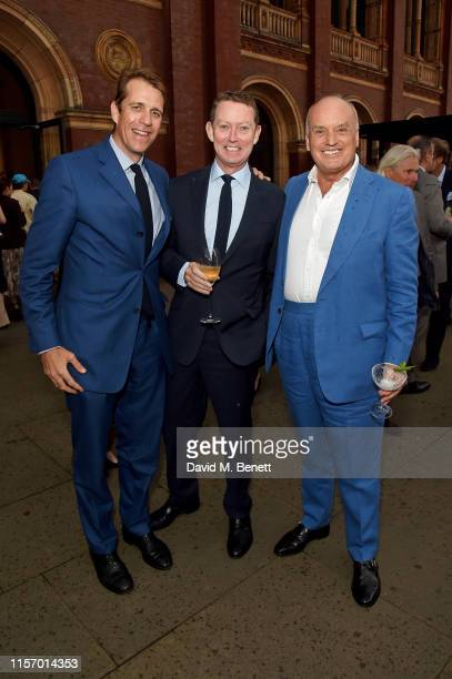 Ben Elliot, Guest and Nicholas Coleridge attend The V&A Summer Party 2019 in partnership with Dior on June 19, 2019 in London, England.