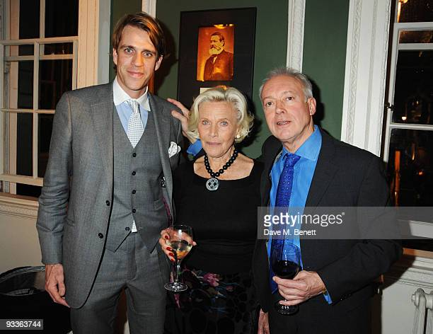 Ben Elliot Honor Blackman and Nicholas Grace attend the Place 2 Be Charity Party at the House of St Barnabas on November 24 2009 in London England