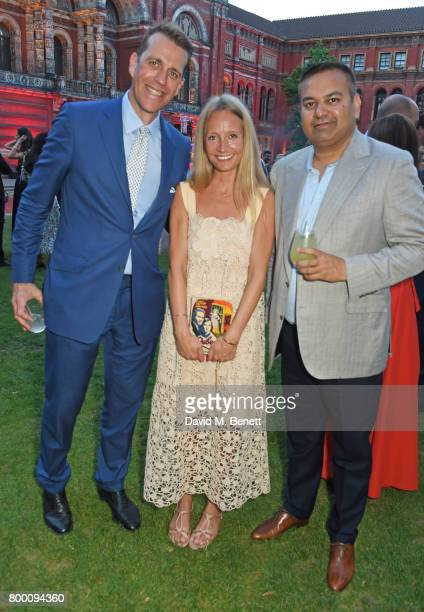Ben Elliot Martha Ward and Anshuman Mishra attend the 2017 annual VA Summer Party in partnership with Harrods at the Victoria and Albert Museum on...