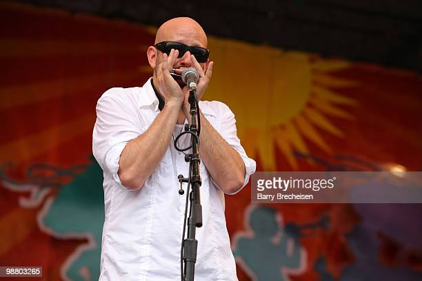 Ben Ellman of Galactic performs during Day 6 of the 41st annual New Orleans Jazz & Heritage Festival at the Fair Grounds Race Course on May 1, 2010...