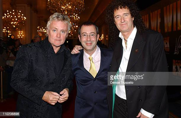 Ben Elton book writer with Roger Taylor and Brian May of Queen