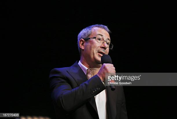 Ben Elton performs on stage as part of the The Prince's Trust comedy gala We Are Most Amused at Royal Albert Hall on November 28 2012 in London...