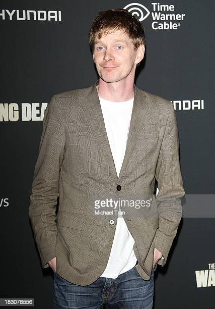 Ben Esler arrives at the Los Angeles premiere of AMC's The Walking Dead 4th season held at Universal CityWalk on October 3 2013 in Universal City...