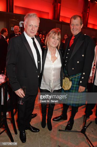 Ben Evans Amanda Levete and Alastair Campbell attend the GQ Men of the Year Awards 2018 in association with HUGO BOSS at Tate Modern on September 5...