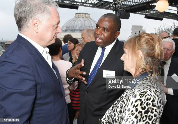 Ben Evans David Lammy and Amanda Levete attend the launch of new book 'Climate Of Hope' by Michael Bloomberg and Carl Pope at The Ned on June 5 2017...