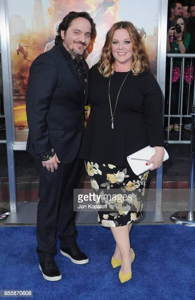 Ben Falcone and Melissa McCarthy arrive at the Los Angeles Premiere CHiPS at TCL Chinese Theatre on March 20 2017 in Hollywood California