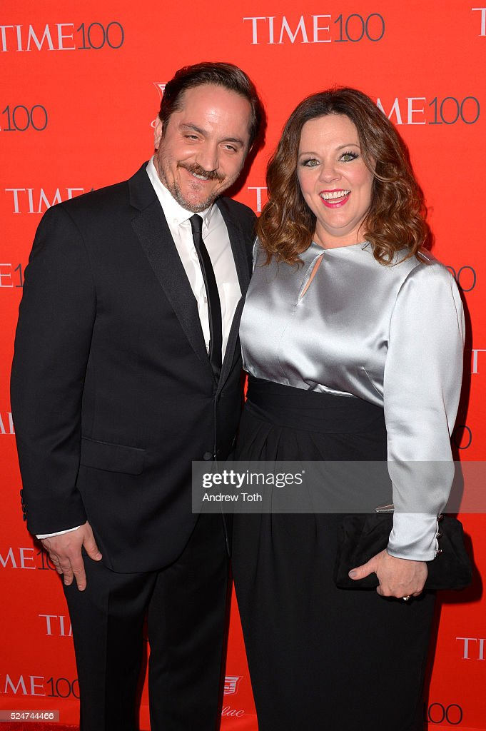 Ben Falcone (L) and Melissa McCarthy attend the 2016 Time 100 Gala at Frederick P. Rose Hall, Jazz at Lincoln Center on April 26, 2016 in New York City.