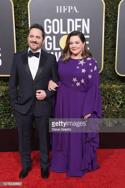 Ben Falcone and Melissa McCarthy attend the 76th Annual Golden Globe Awards at The Beverly Hilton Hotel on January 6, 2019 in Beverly Hills,...