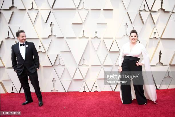 Ben Falcone and Melissa McCarthy attend the 91st Annual Academy Awards at Hollywood and Highland on February 24 2019 in Hollywood California