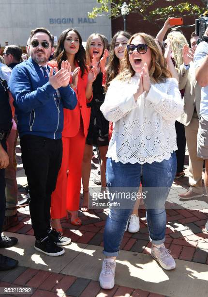 Ben Falcone and Melissa McCarthy attend the Life Of The Party Auburn Tour at Auburn University on April 30 2018 in Auburn Alabama