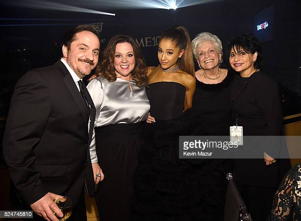 Ben Falcone Melissa McCarthy Ariana Grande Marjorie Grande and Joan Grande attend the 2016 Time 100 Gala Time's Most Influential People In The World...
