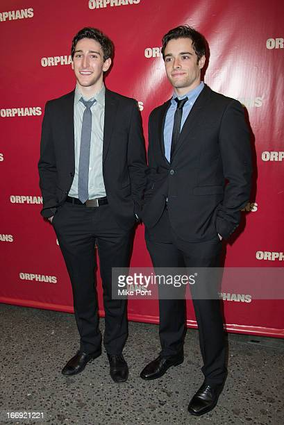 Ben Fankhauser and Corey Cott attend the Orphans Broadway opening night at the Gerald Schoenfeld Theatre on April 18 2013 in New York City