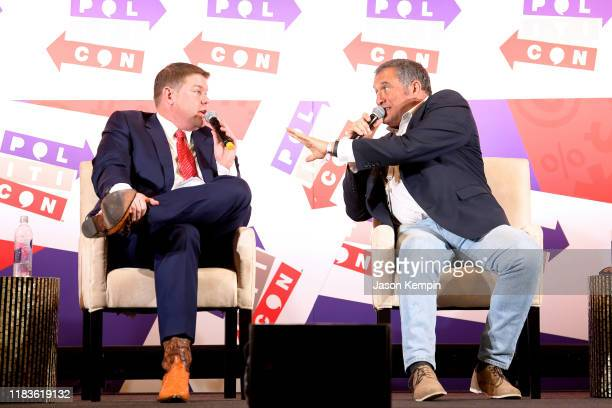 Ben Ferguson and Brian Karem speak onstage during the 2019 Politicon at Music City Center on October 26 2019 in Nashville Tennessee