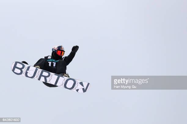 Ben Ferguson from USA competes in the FIS Snowboard World Cup Men's Halfpipe Finals at Bokwang Snow Park on February 19, 2017 in Pyeongchang-gun,...