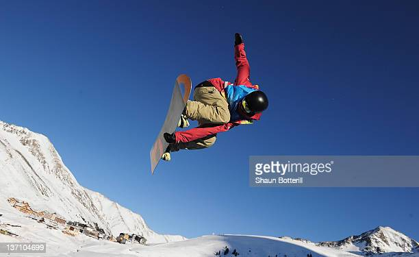 Ben Ferguson of USA during the Men's Snowboard Halfpipe Competion on January 15, 2012 in Kuhtai, Austria.