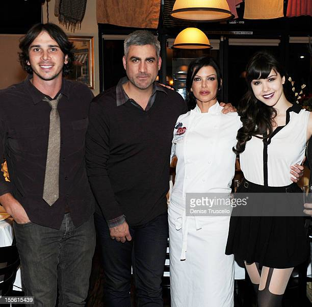 Ben Flajnik Taylor Hicks Carla Pellegrino and Claire Sinclair attend a wine paairing dinner benefiting Henderson Boys and Girls Club at Bratalian...