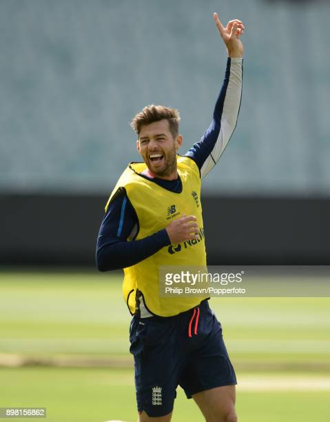 Ben Foakes of England laughs during a net session before the fourth Ashes cricket test match between Australia and England at the Melbourne Cricket...