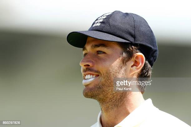 Ben Foakes of England looks on during day two of the Third Test match during the 2017/18 Ashes Series between Australia and England at WACA on...