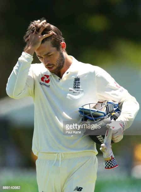 Ben Foakes of England walks to take a drinks break during the Two Day tour match between the Cricket Australia CA XI and England at Richardson Park...