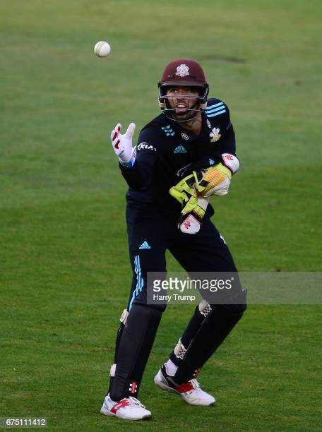 Ben Foakes of Surrey during the Royal London OneDay Cup match between Glamorgan and Surrey at the Swalec Stadium on April 30 2017 in Cardiff Wales