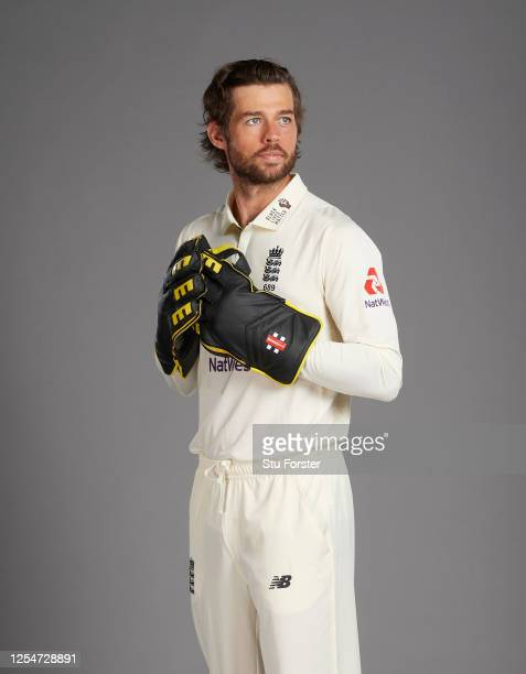 Ben Foakes poses for a portrait during the England Test Squad Photo call at Ageas Bowl on July 05 2020 in Southampton England
