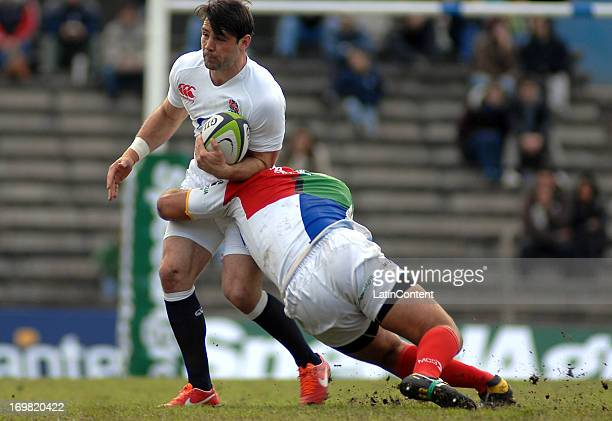 Ben Foden in action during the England Tour Match between a Consur XV and England on June 2 2013 at the Estadio Charrua in Montevdieo Uruguay