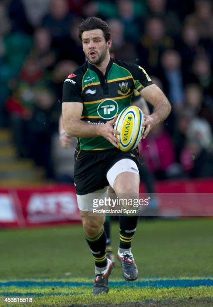 Ben Foden in action for Northampton Saints during the Aviva Premiership match between Northampton Saints and Bath at Franklin's Gardens on December...